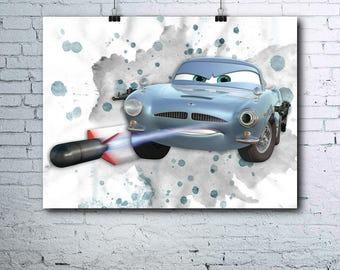 Disney Cars Birthday - Lightning Mcqueen - Finn McMissile - Finn McMissile Print - Finn McMissile Poster - Finn McMissile Print - Printables