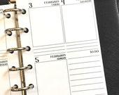 Pocket 2017 Weekly Vertical printed planner calendar - Wo2P - week on two pages - week layout - Monday Start - #304-17