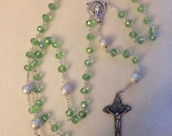 Rosary - Sea-foam Green
