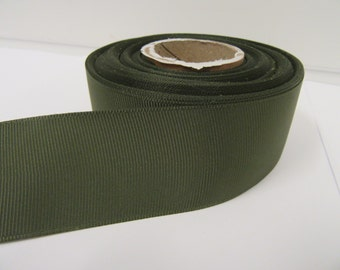 Grosgrain Ribbon 3mm 6mm 10mm 16mm 22mm 38mm Rolls, Olive Dark Green, 2, 10, 20 or 50 metres, Ribbed Double sided,