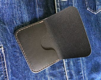 Leather card holder card holder handmade card holder handstitched wallet leather wallet mens wallet small wallet compact wallet