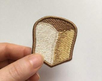 Emoji Bread embroidery patch or pin