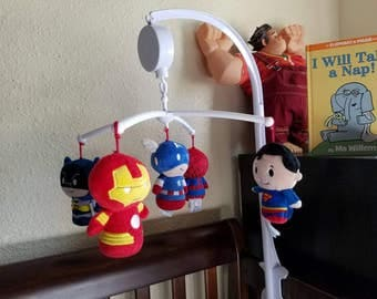 Custom Marvel / DC / Avengers / Guardians of the Galaxy baby mobile, FREE SHIPPING!!!