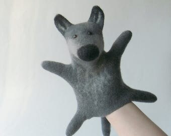 The Gray Wolf hand puppet