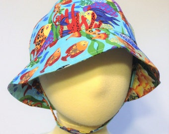 Infant Sun Hat, Fish