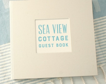 Personalised Typographic Visitors Guest Book