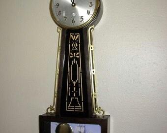 Vintage Gilbert Banjo Pendulum Wall Clock