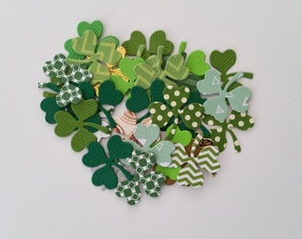 Shamrock Die Cuts- Now Cut From A Variety Of Designer Papers