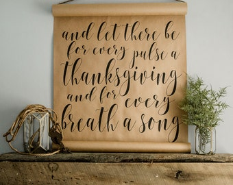 Thanksgiving Calligraphy Scroll