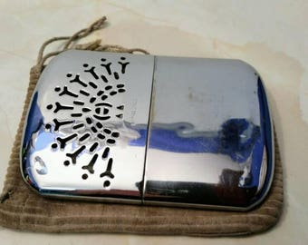 Vintage Small Hand Warmer with Original Drawstring pouch  - Stamped Empire Made