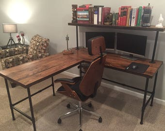 Reclaim Wood Desk Barn Wood Table Computer Desk Home