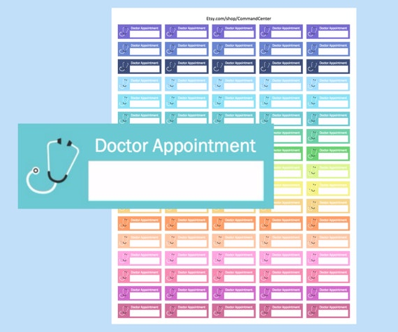 Printable Appointment Stickers Doctor Appointment Stickers