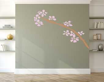 Cherry Blossom - Wall Art Stencil in reusable Mylar, wall art, small to large stencils up to 19.5 x 27.5 inches.