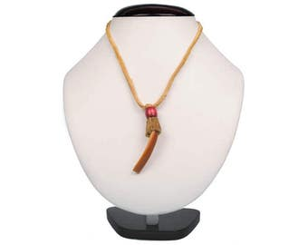 Ojibwa Large Beaver Tooth Necklace