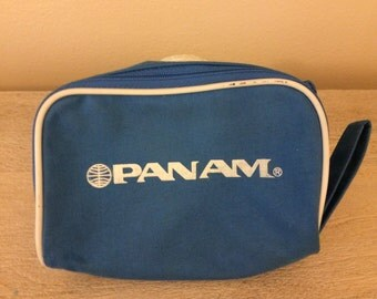 Vintage Pan Am Airlines Makeup/Tote/Travel Zippered Bag