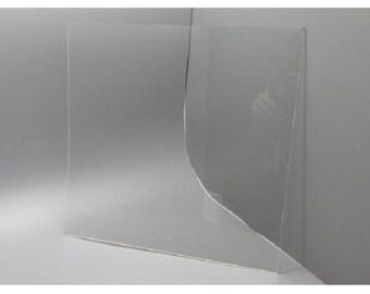 "Fixture Displays® 11.8""x11.8"" Clear Acrylic Plexiglass Lucite Sheets 15641"