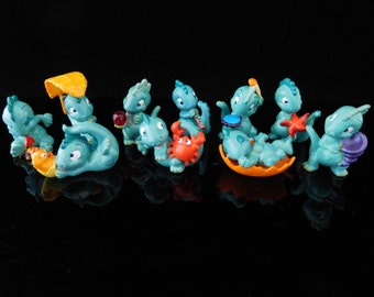 Vintage Toys, Collectible, Dinosaurs, Drolly Dinos, Complete Series of 10 Figures, KINDER Surprise Figurines