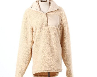 Cream Sherpa Pullover IN STOCK