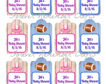 Digital  Personalized Touchdowns Or Tutu's  Gift, Party/Favor Tags