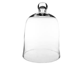 "Glass Bell Cloche. H-""12"", Interior Height - 9.5"" #GCL101"