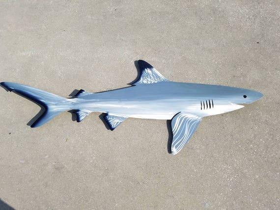 Black Tip Reef Shark, Aluminum Wall Art, Metal Fish Art, Metal Ocean Art, Fishing Gift, Tropical Decor, Tropical Fish Art, Handmade Fish Art
