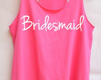 Flock Bridesmaid - Racer back,Bridesmaid shirt,Bridesmaid tank top,Team bride tank top,Bachelorette Party Tank Top,wedding shirt,team bride