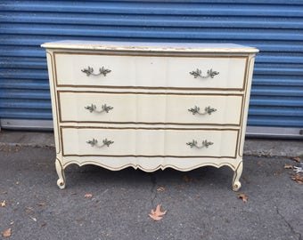 Vintage French 3 Drawer Dresser