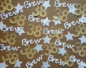 Confetti, Birthday Confetti, Custom Confetti, Personalized Confetti, 38th Birthday, Star Confetti, Name Confetti, Customized Name Confetti
