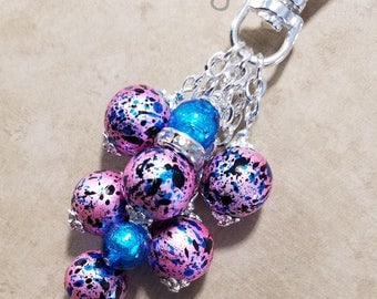 Purse Charm Keychain Handbag Fob Bible Dangle Lanyard Pendant Dangle BLING Key Chain #662