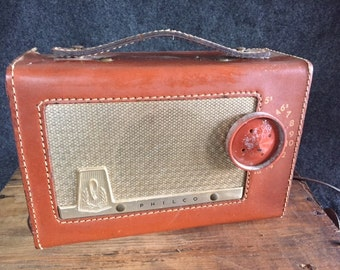 Vintage Philco portable tube radio