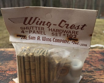 Vintage hardware set, wing crest shutter hardware, new old stock