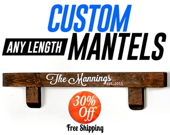 Mantel.mantel shelves.mantel shelf.floating mantel.home mantel.fireplace shelf.fireplace mantel.wood mantel.shelf.wooden mantel(6in Mantel)