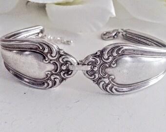 Silver Spoon Bracelet, Spoon Bracelet, Silverware Jewelry, Vintage Jewelry, Cutlery Bracelet, Antique Silver Spoon Jewelry, Vintage Bracelet