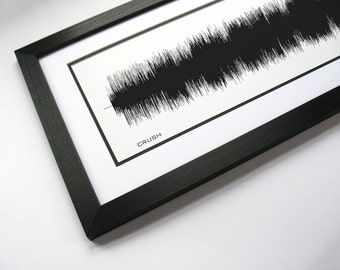 """Sound Wave Print - """"Crush"""" - Created From Entire Song, Art Print"""