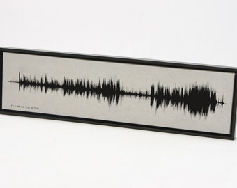 Fly Me To the Moon - Classic Music Art Created from Recording Sound Waves, Lyric Music Art