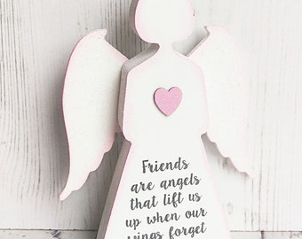 Friends are angels gift ~ thank you gift ~ Friendship gift ~ best friend gift idea ~ guardian angel ~ Friend Gift ~ Gift for Friend