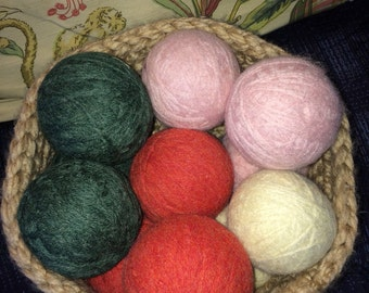 NEW COLORS  Mix and match 100% recycled wool dryer balls.