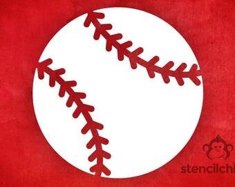 DIY Art Stencil - Baseball Stencil