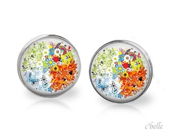 Earrings floral 12
