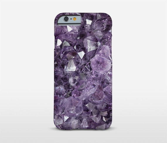 Crystal Phone Case, Mineral Photography, Purple iPhone Case, Amethyst Decor, iPhone7 Plus, iPhone 5 Cases, iPhone6s, Galaxy Case and more