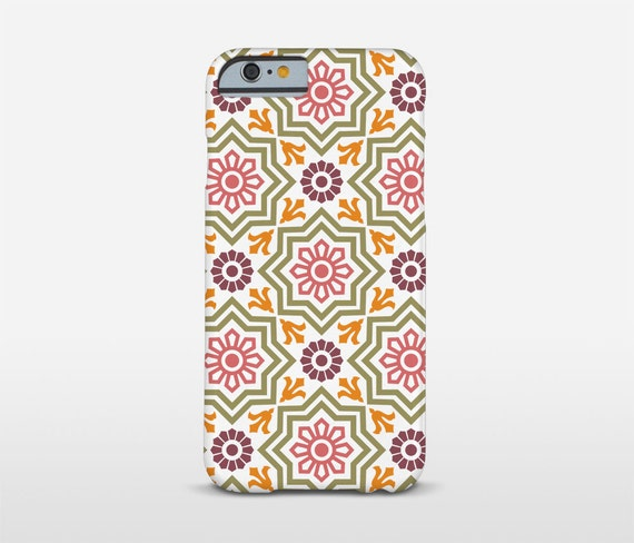 Pattern Phone Case, Ceramic Tiles, iPhone SE, Samsung Cases, Barcelona Art, Mosaic Art Cell, Xperia Case and more