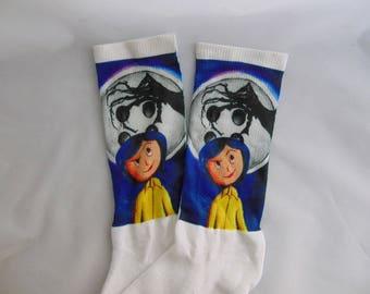 Coraline Inspired Socks