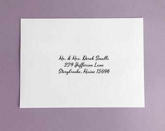 ENVELOPE ADDRESSING • Guest Address Envelope Printing • Guest's Addresses • Black and White Envelope Printing • Black and White • Matching