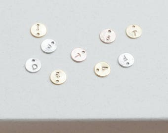 ADD ON Large initial disc Gold Silver Rose personalized disc initial