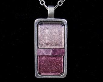 Elegant Pendant / Shades of Purple Rectangle Pendant/ JP545