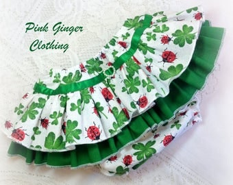 Lucky Clover Ruffle Knickers (on own or with singlet) - made to order