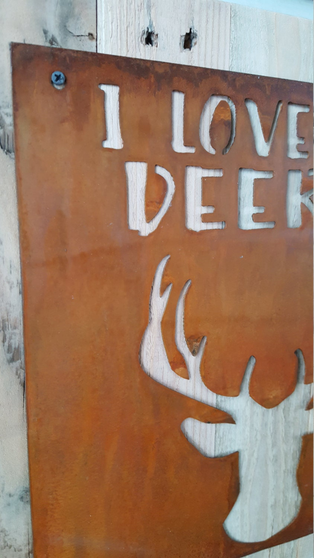 i love you deerly nursery decor rustic sign woodland nursery