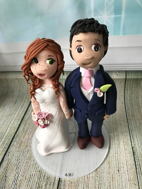 Custom Wedding cake Topper - Fully Personalised a lovely keepsake - Bride and groom or Same Sex wedding