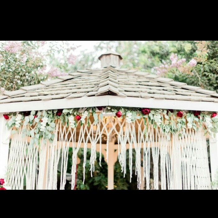 Wedding Altar Etsy: Handmade Macrame Ceremony Altar Or Arbor Hanging. Cake Table
