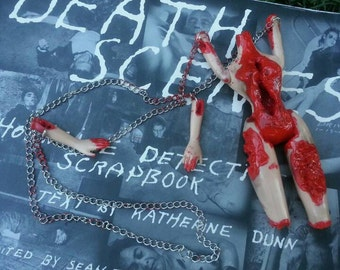 Gore Horror Mutilated Creepy Doll Necklace!